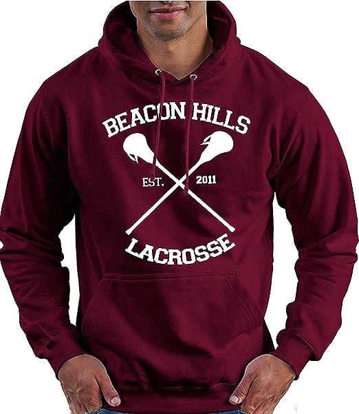 JNJ Sudadera Unisex con Capucha de Lacrosse Maroon diseño de Lobo de Lacrosse con Texto Lacrosse Maroon Teen Wolf MCCALL Stilinski: Amazon.es: Ropa y ...