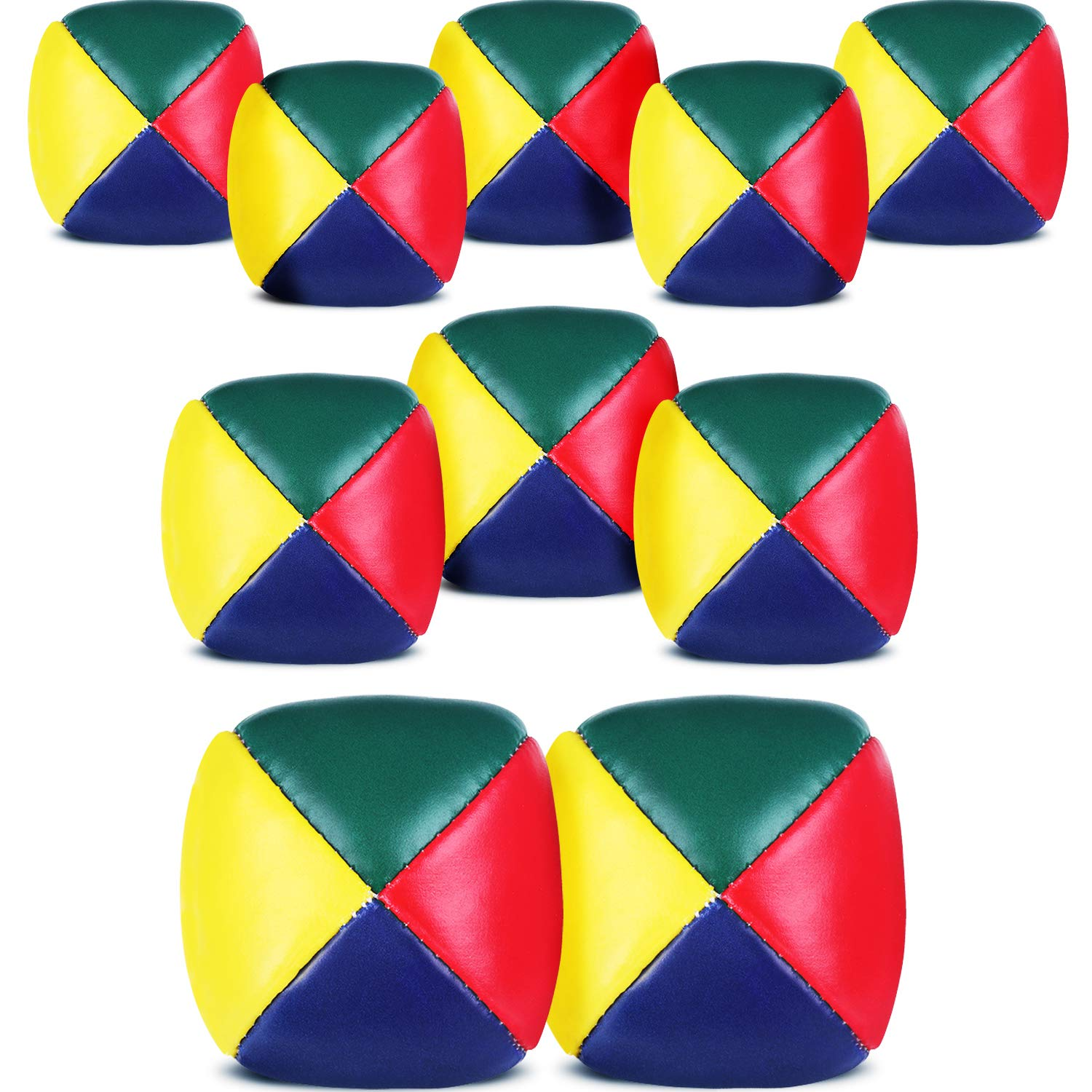 Patelai Juggling Balls Set for Beginners, Quality Mini Juggling Balls, Durable Juggle Ball Kit, Soft Easy Juggle Balls for Boys Girls and Adults, Multicolored (10 Packs) by Patelai (Image #7)