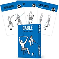 Cable Exercise Cards, Set of 62 :: Guided Strength Training Workout for Home or Gym :: Illustrated Fitness Flash Cards with 50 Exercises, for Men & Women :: Large, Durable, Waterproof