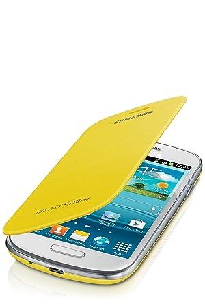 4d2d634f45c Samsung Flip - Funda para móvil Galaxy S3 Mini (Permite hablar con la tapa  cerrada, sustituye a la tapa trasera), amarillo: Amazon.es: Electrónica
