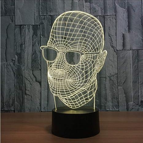 66f65723d5 Mmzki Gafas De Sol De Novedad En Forma De Hombre 3D Luz De La Noche ...