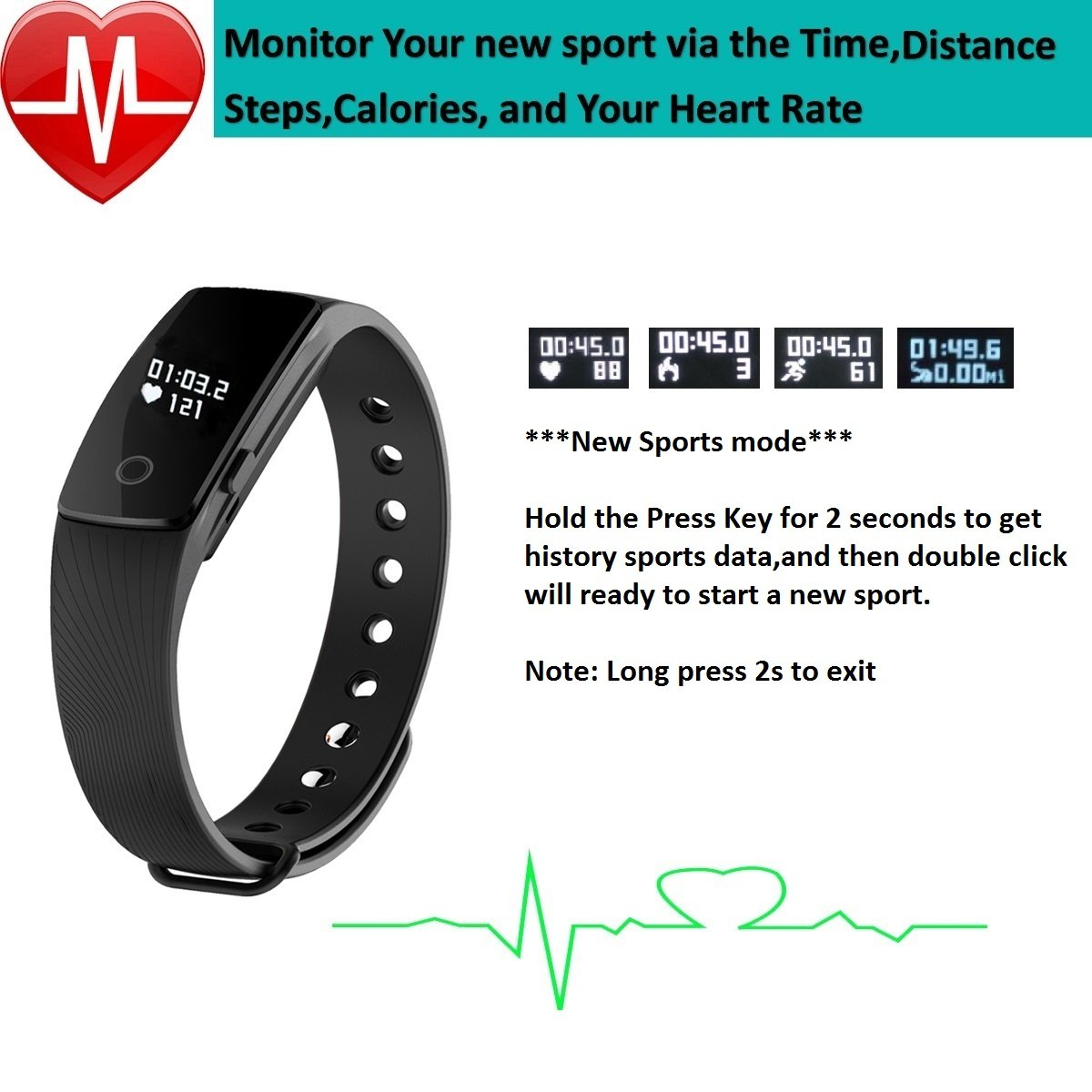 Fitness Tracker With Heart Rate Monitorpashion Xiaomi 042ampquot Screen Mi Band 2 Smart Wristband Replace Black Bluetooth Bracelet Touch Healthy Watch For Android Ios