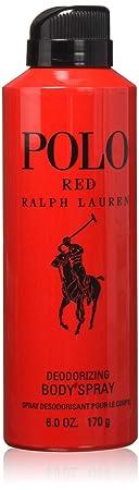 Ralph Lauren Polo Red Body Spray for Men, 6 Ounce