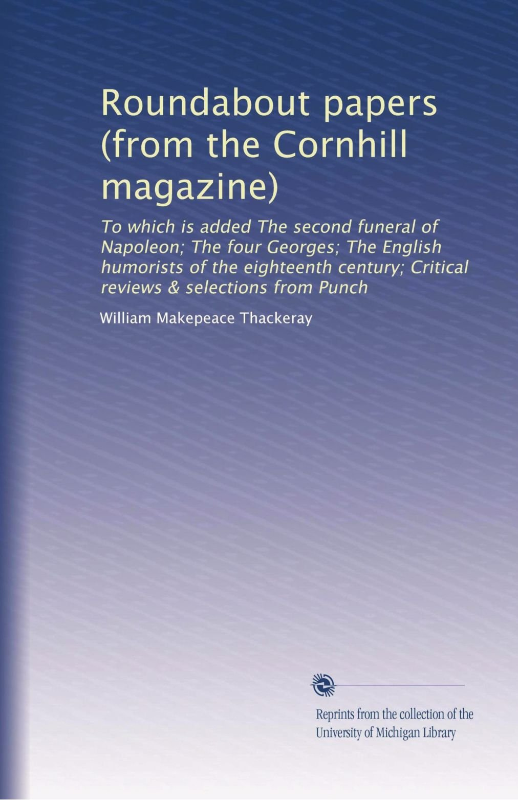 Download Roundabout papers (from the Cornhill magazine) pdf epub