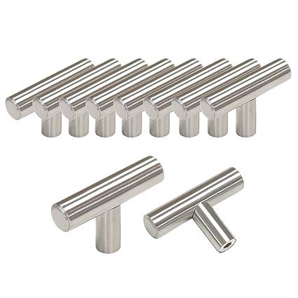 Probrico Maniglia per mobili da cucina, barra a T in acciaio inossidabile,  diametro: 12 mm