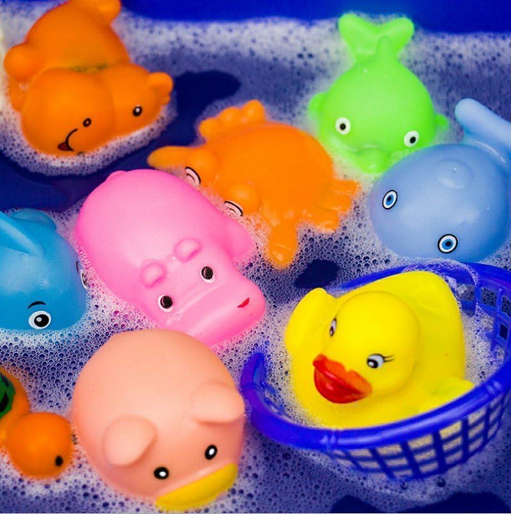 Chickwin 20PCS Piccolo Animale Di Nuoto Gomma Colorati Bagnetto Bambino Giocattolo Bagno Giochi Spremere Suono Giocattoli Giocattolo del Bagnetto Bagno Giocattolo// 20 pcs Bagno Giocattolo