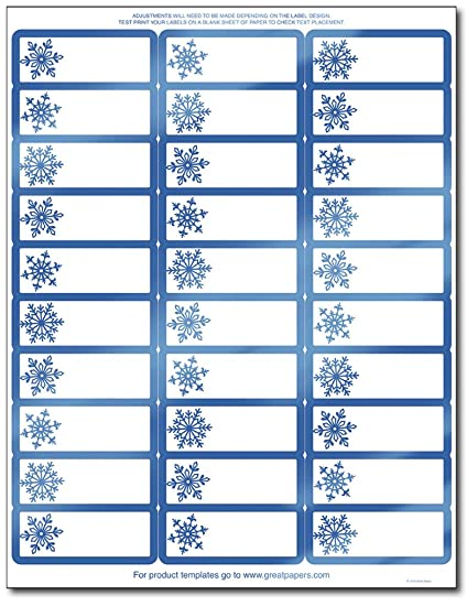 amazon com great papers blue foil snowflake address labels gift