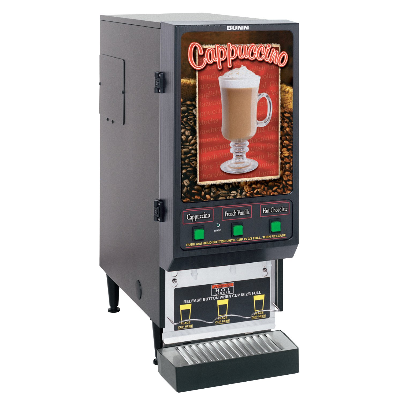 BUNN SET00.0197 Fresh Mix Dispenser with 3 Hoppers, Black/Stainless Steel