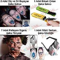 Şaka Malzemeleri Paketi: Sakızlar + Şaka Sigarası + Gözlük