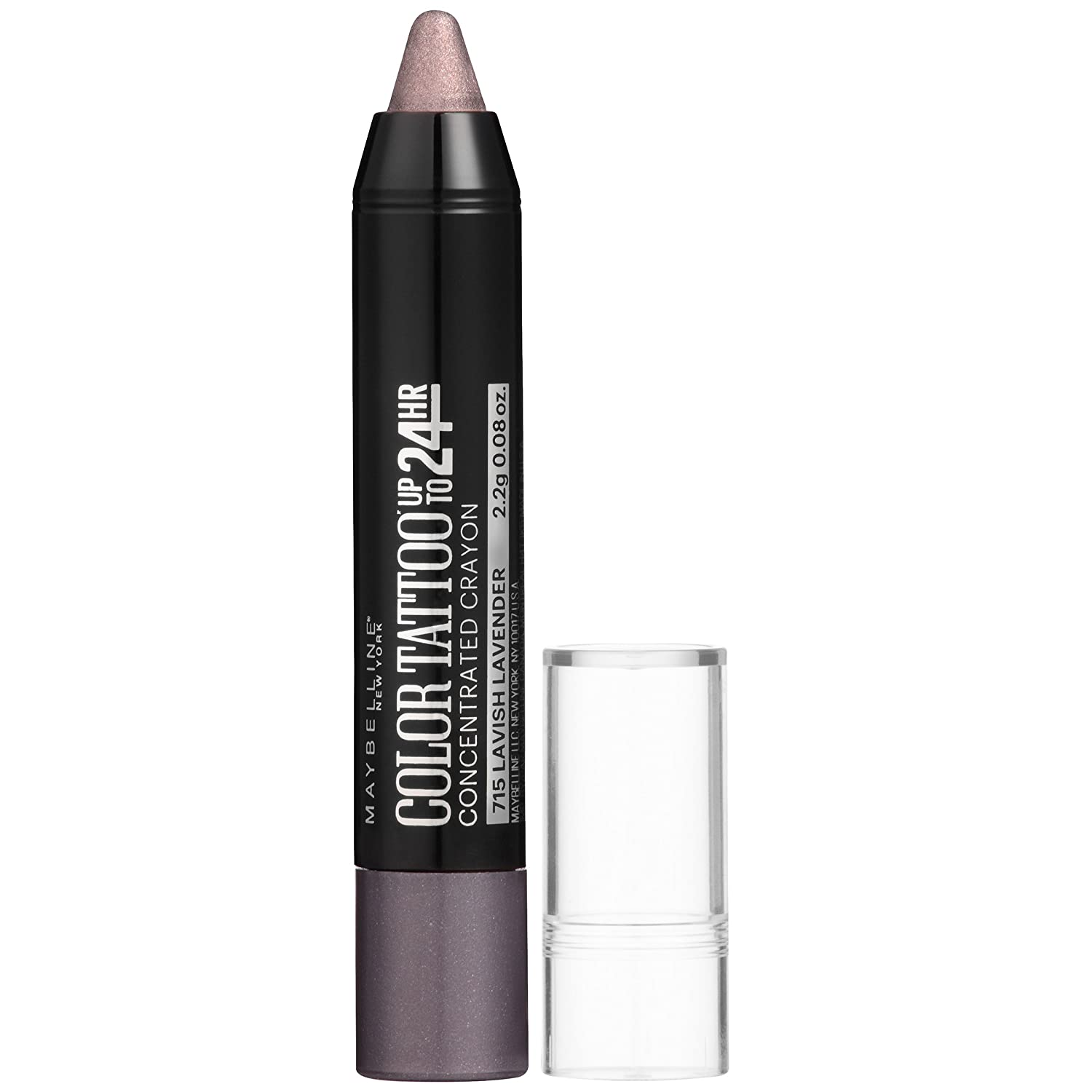 Maybelline New York Eyestudio Color Tattoo Concentrated Crayon Eye Color, Lavish Lavender, 0.08 Ounce K2003300