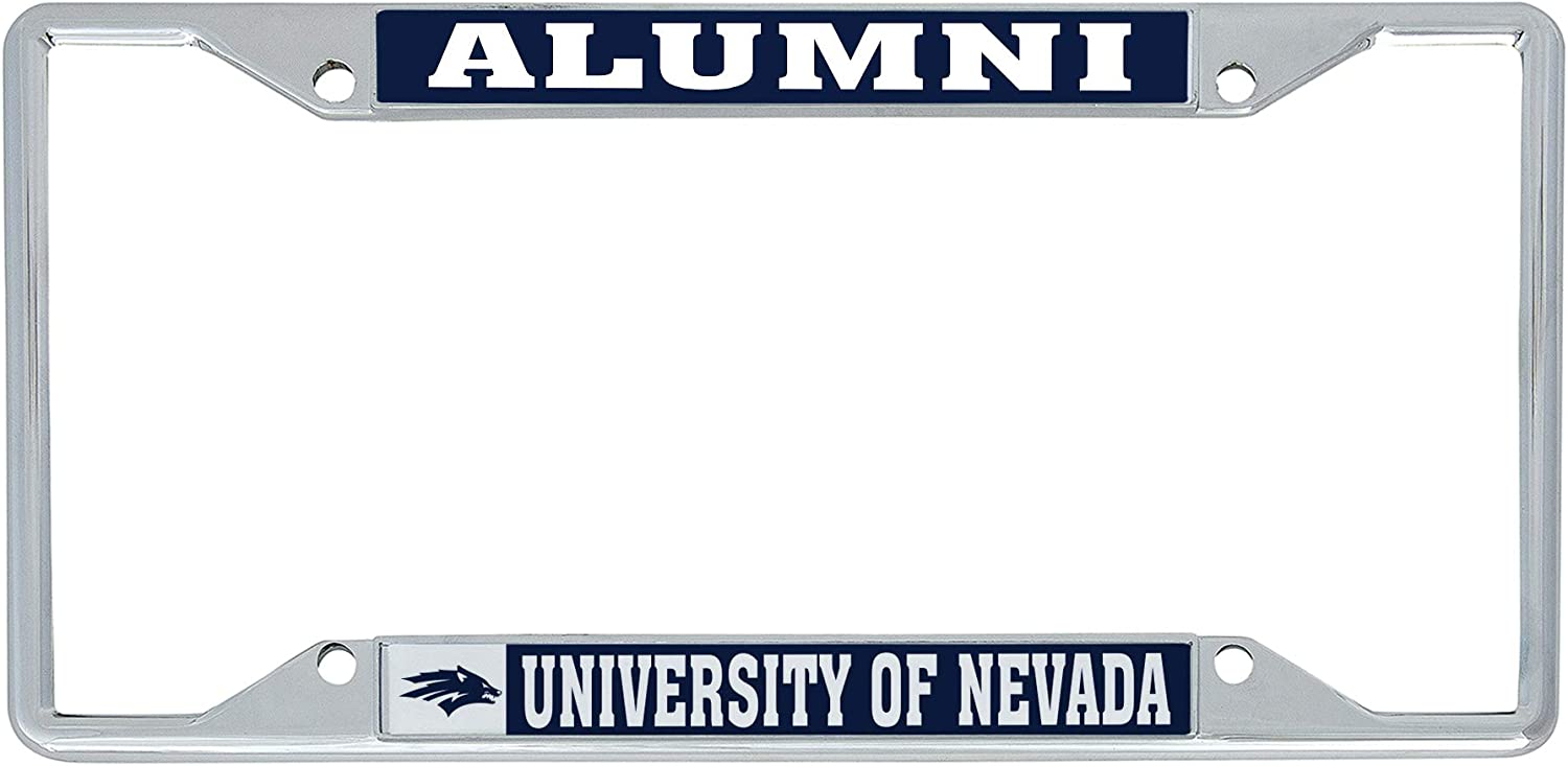 Desert Cactus University of Nevada Reno UNR Wolf Pack NCAA Metal License Plate Frame for Front or Back of Car Officially Licensed (Alumni)