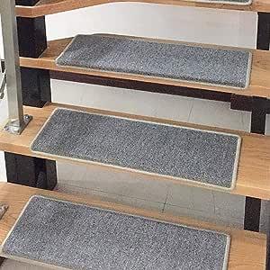 World-ditan Escalera Alfombra-Escalera Alfombra Paso Sin Pegamento Autoadhesivo Minimalista Moderno Escalera para el hogar Antideslizante (Color : A(5pcs), Tamaño : 80 * 24 * 3cm): Amazon.es: Hogar