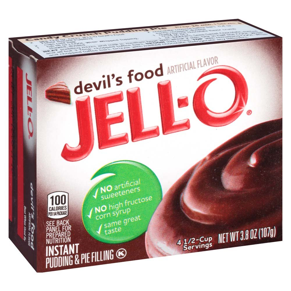 Jell-O Devil's Food Instant Pudding Mix 3.8 Ounce Box