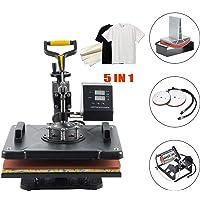 UROK Prensa de Calor 30X38CM M/áquina de Prensa de Calor 1250W con Controlador LED Digital Heat Press Machine para Camiseta 30X38CM