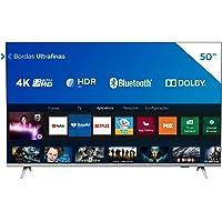 """Smart TV Philips 50"""" 50PUG6654/78 4K UHD HDR10+ Dolby Vision Dolby Atmos Bluetooth WiFi 3 HDMI 2 USB - Prata Bordas…"""