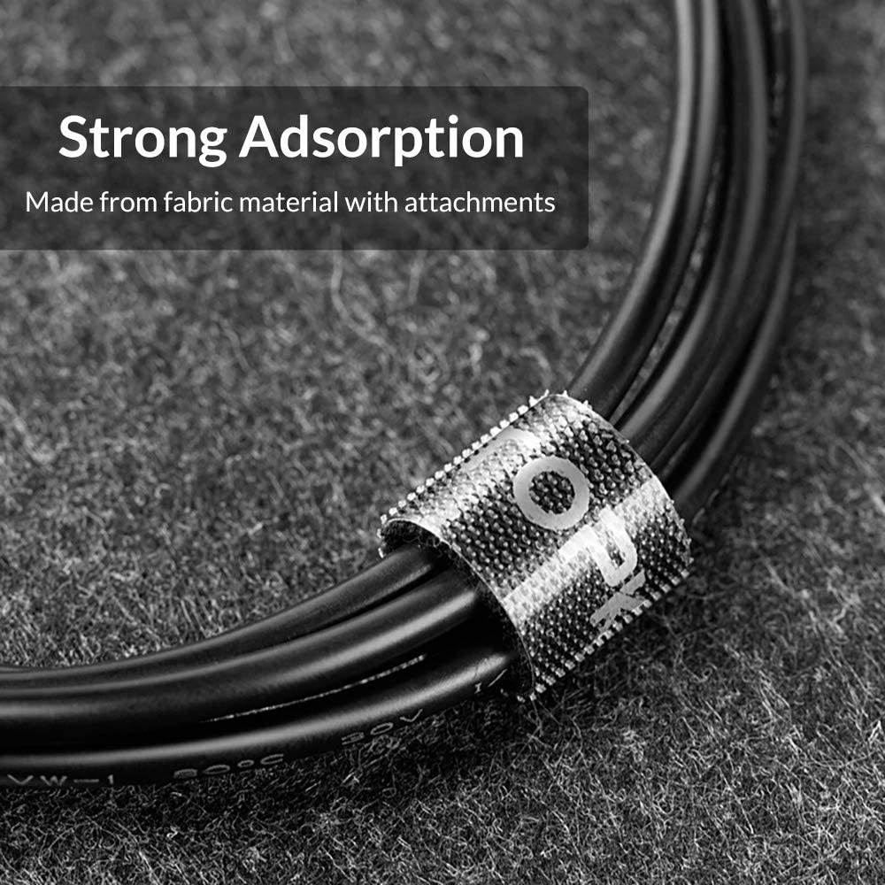 3.3ft Nylon Cable Winder Wire Organizer Mouse Cord Protector Cable Management