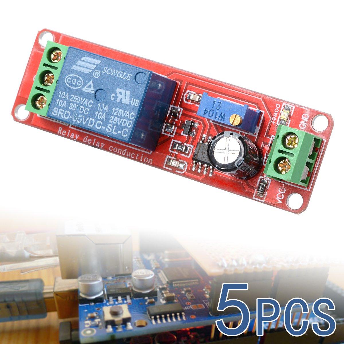 Xcsource 5x 12v Delay Timer Ne555 Monostable Switch Relay Module Arduino Adjustable Te155 Patio Lawn Garden