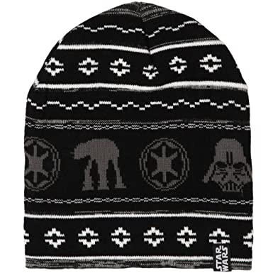 b70e855e8bf873 Image Unavailable. Image not available for. Color: Star Wars Holiday Knit  Beanie Hat Black