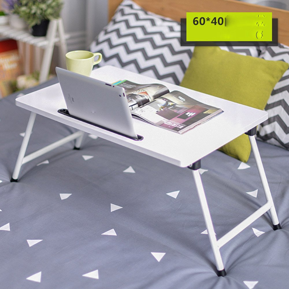 H ZZ Folding Table Folding Table Laptop Table Bed with Folding Study Table 8 colors Optional 60  40cm (color   G)