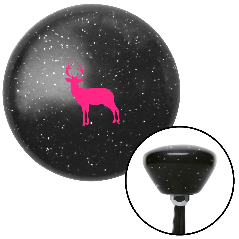 American Shifter 286901 Shift Knob Pink Deer Silhouette Black Retro Metal Flake with M16 x 1.5 Insert
