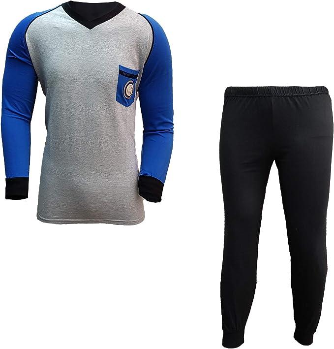 FC INTER - Pijama para Hombre, Largo, de algodón, Producto Oficial, Nueva colección Art. IN14075