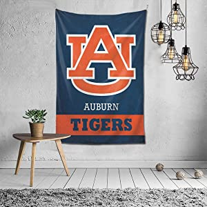 Fremont Die NCAA AUB-urn Tig-ers Tapestry Wall Hanging, Tapestry Art Decoration Closet Bed Living Room Bedroom Dormitory Bedroom Interior Home Decoration Tapestry 60 40inch