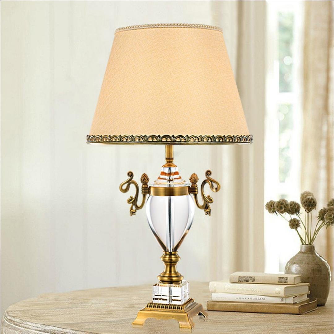 High-End-Luxus-Kristall Tischlampe Schlafzimmer Nacht Villa Wohnzimmer dekoriert Lampe (ohne Lichtquelle)