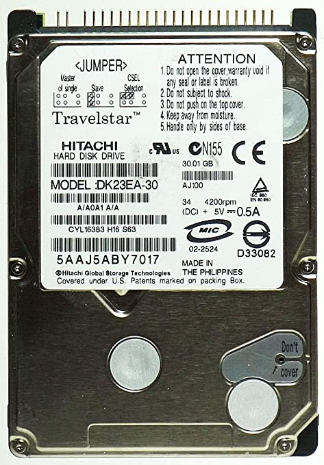 HITACHI DK23EA 30 DRIVERS FOR WINDOWS VISTA