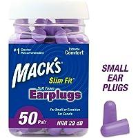 50 Pair Mack's Slim Fit Soft Foam Earplugs for Sleeping, Snoring, Traveling