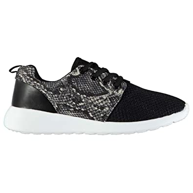 Rock and Rags Laces Fastened Sneakers Ladies Runners Padded Ankle Collar