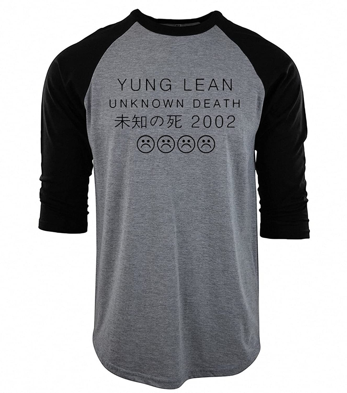 funny YUNG LEAN UNKNOWN DEATH Sad Boys T-shirts NEW Men Cotton raglan three-quarter sleeve camisetas Hip Hop mma brand clothing white black XXL at Amazon ...