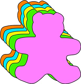 """product image for 3"""" Teddy Bear Assorted Color Cut-Outs, 31 Cut-Outs in a Pack for Teddy Bear Picnics, Spring Crafts, Kids' School Craft Projects"""