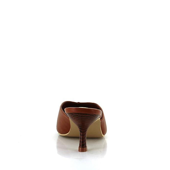 b55729cb0f Amazon.com | Seven7 Women's Melania Kitten Heel Mule Pointy Toe Vegan  Leather Dress Slip-On Shoes | Shoes