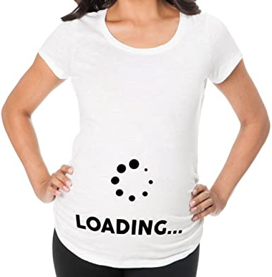 b400403f Awkward Styles Loading Funny Pregnancy Announcement Maternity T Shirt Mom to  Be Gifts New Mom at Amazon Women's Clothing store: