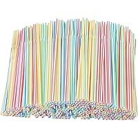 EOINSHOP 1000 Kleurrijke Plastic Rietjes Drinken Rietjes, Flexibel Plastic Rietjes Voor Sap, Drankjes, Melk, Thee…