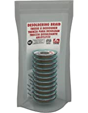 """MG Chemicals Desoldering Braid #3 No Clean Fine Braid Super Wick with RMA Flux, 5' Length x 0.075"""" Width (Pack of 10)"""