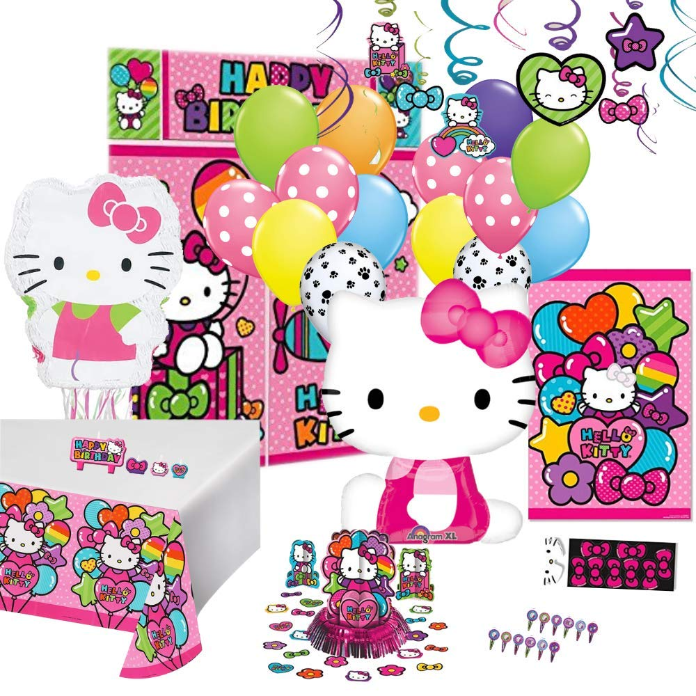 Birthday Party Set :: Ya Otta Hello Kitty Pinata bundled with Hello Kitty Party Supplies and an eBook on Kids Birthday Party Games by Ya Otta Pinata (Image #1)