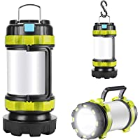 Rechargeable LED Camp Lantern USB Charge Portable Brightest Camping Light with 800LM 4 Modes IPX45 Water Resistant…