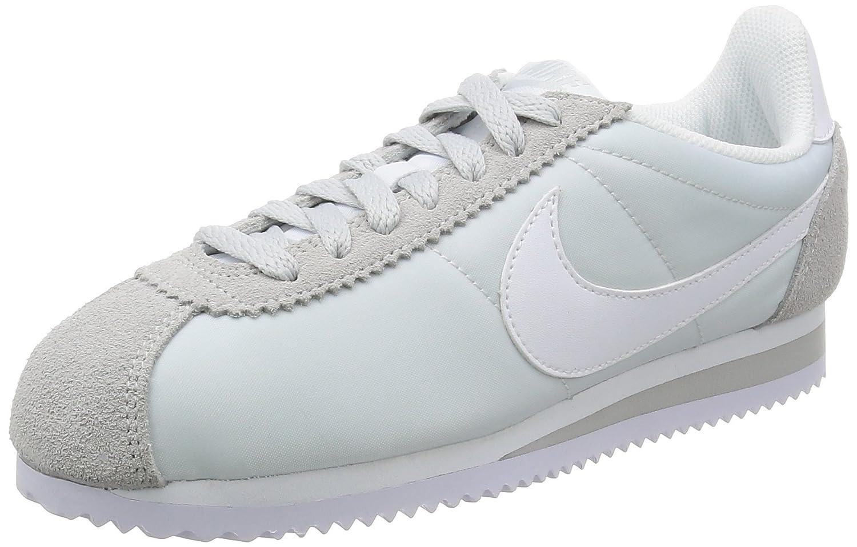 grau (Pure Platinum Weiß 010) Nike Wmns Classic Cortez Nylon, Hausschuhe para damen