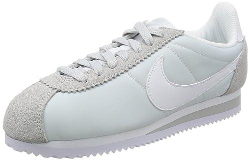 best service 65fbf 2df73 Nike Wmns Classic Cortez Nylon, Women s Low-Top Sneakers, White (Pure  Platinum