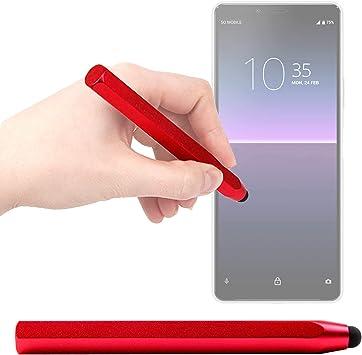 DURAGADGET Lápiz Stylus Rojo Compatible con Smartphone Sony Xperia ...