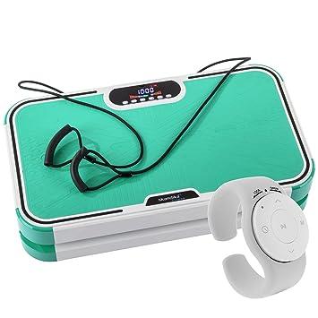 skandika Vibrationsplatte Vibration Plate 800 - Plataforma vibratoria de Fitness, Color Verde, Talla Standard