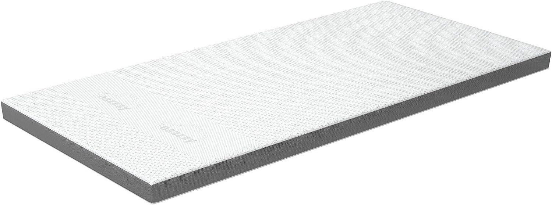 Genius Eazzzy Deluxe - Sobrecolchón (100 x 200 cm, transpirable, ortopédico y comprobado, viscoelástico, con 9 cm de altura, dureza H3 + funda)