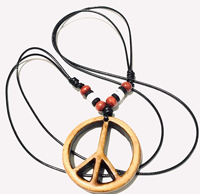 """Stainless Steel Peace Sign Circle Silver Black Man Men/'s Necklace 18+3/"""""""