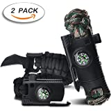 Survival Bracelet, Paracord Bracelet,Outdoors Survival gear With Compass Fire Starter And Whistle Emergency Survival Kit Easymoo