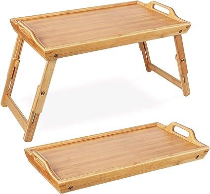 Homfa Vassoio Colazione Letto Pieghevole Di Bambu Tavolino Con Gambe Regolabile Per Pc Notebook 50 31 3 20 5 30 Cm Amazon It Casa E Cucina