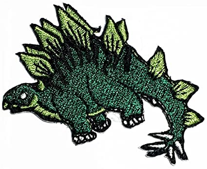 Amazon Stegosaurus Dinosaur Animal Cartoon Patch Logo Kids