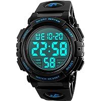 Reloj Deportivo Digital para Hombre, para Uso al Aire Libre o al Hacer Ejercicio, Resistente al Agua a 5 ATM y de Estilo…