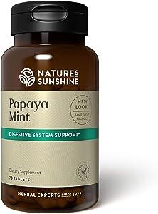 Nature's Sunshine Papaya Mint 70 Chewable Tablets