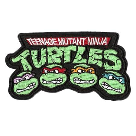 Teenage Mutant Ninja Turtles Embroidered Iron on Patch (3.5